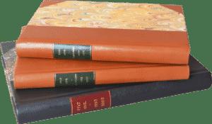 Reliure administrative dos coins cuir